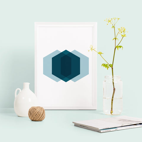 Hexagon Geometric Print
