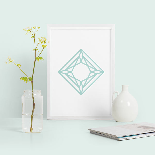 Diamond Geometric Print