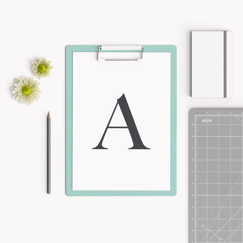 Serif Letter Typography Print