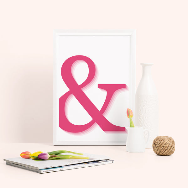 Ombre Ampersand Typography Print