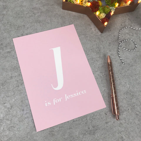 Seconds: J is for Jessica name A5 print