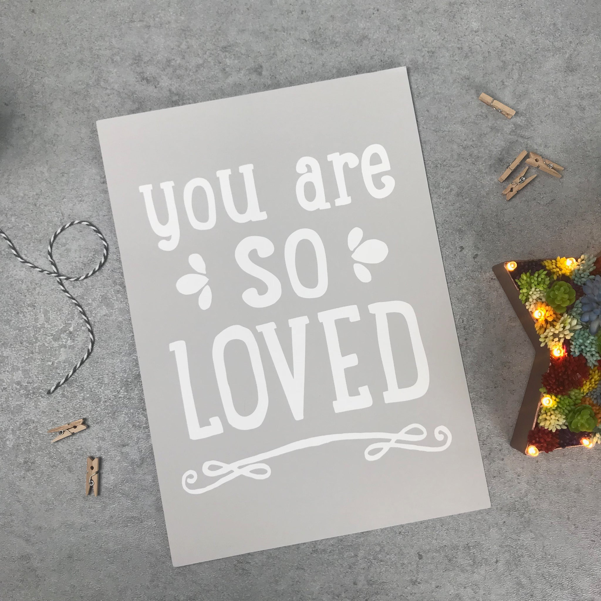 Seconds: You are so loved A4 print