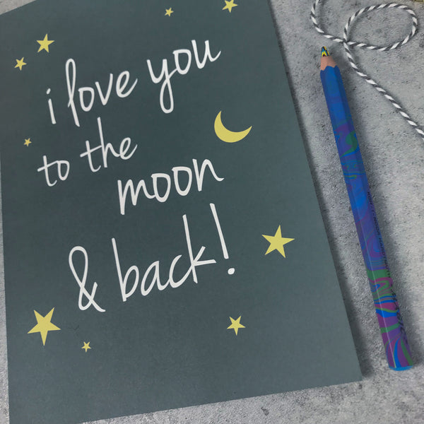 Overstock: I love you to the moon and back A4 print