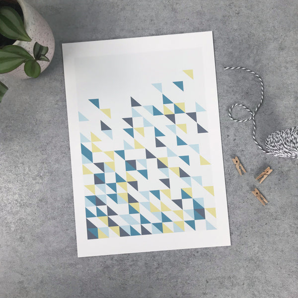 Overstock: Triangles print 120gsm A4 print