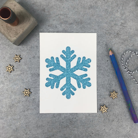 "Seconds: Snowflake 120gsm 5x7"" print"