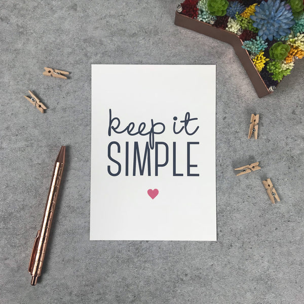 "Overstock: Keep it simple 120gsm 5x7"" print"