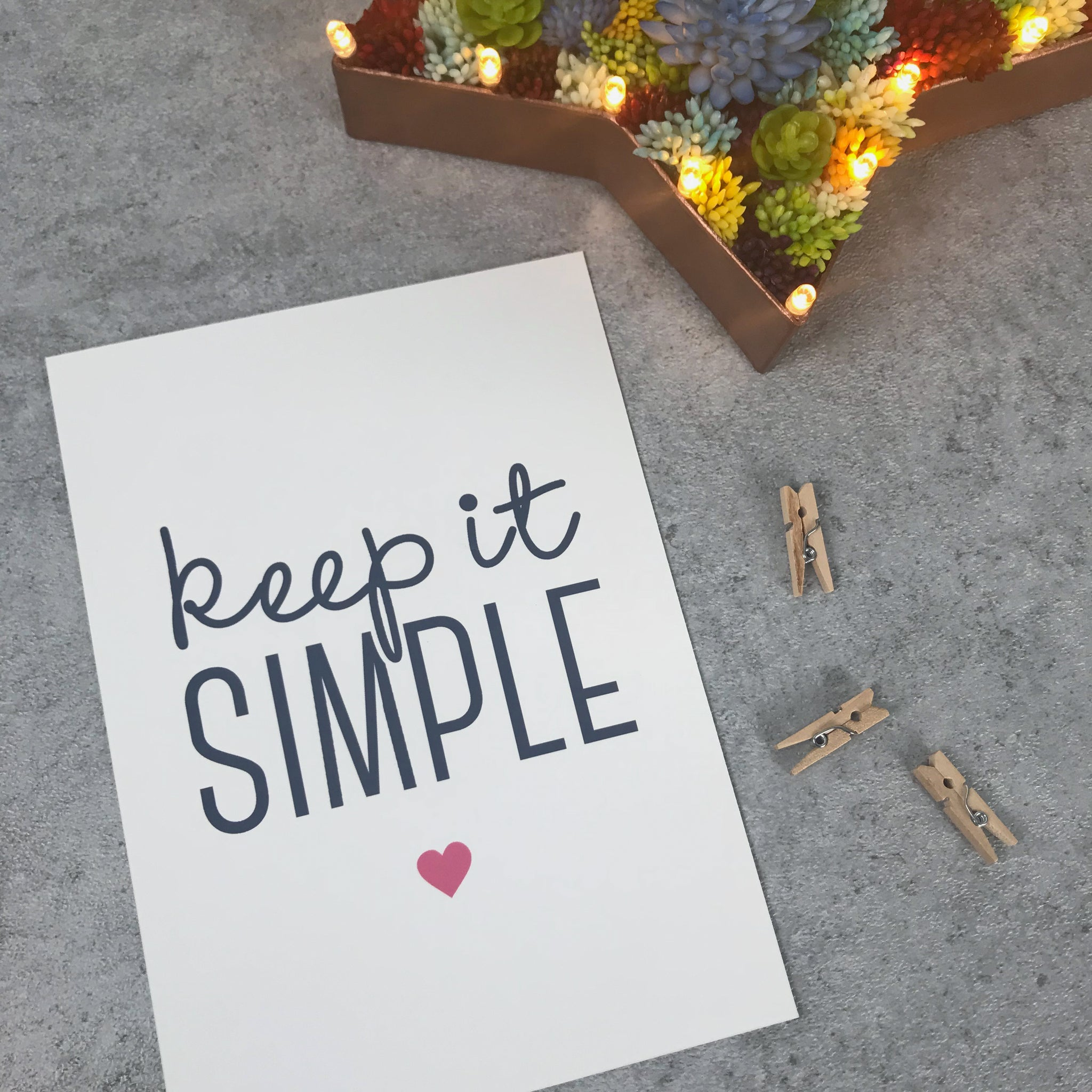 Overstock: Keep it simple 120gsm 5x7