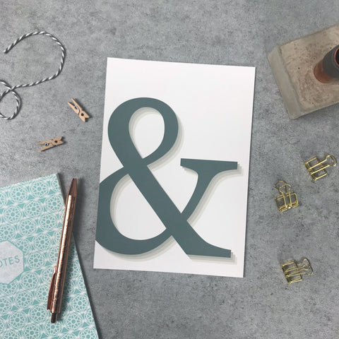 Overstock: Ampersand A5 print