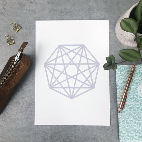 Seconds: Heptagon print 120gsm A4 print