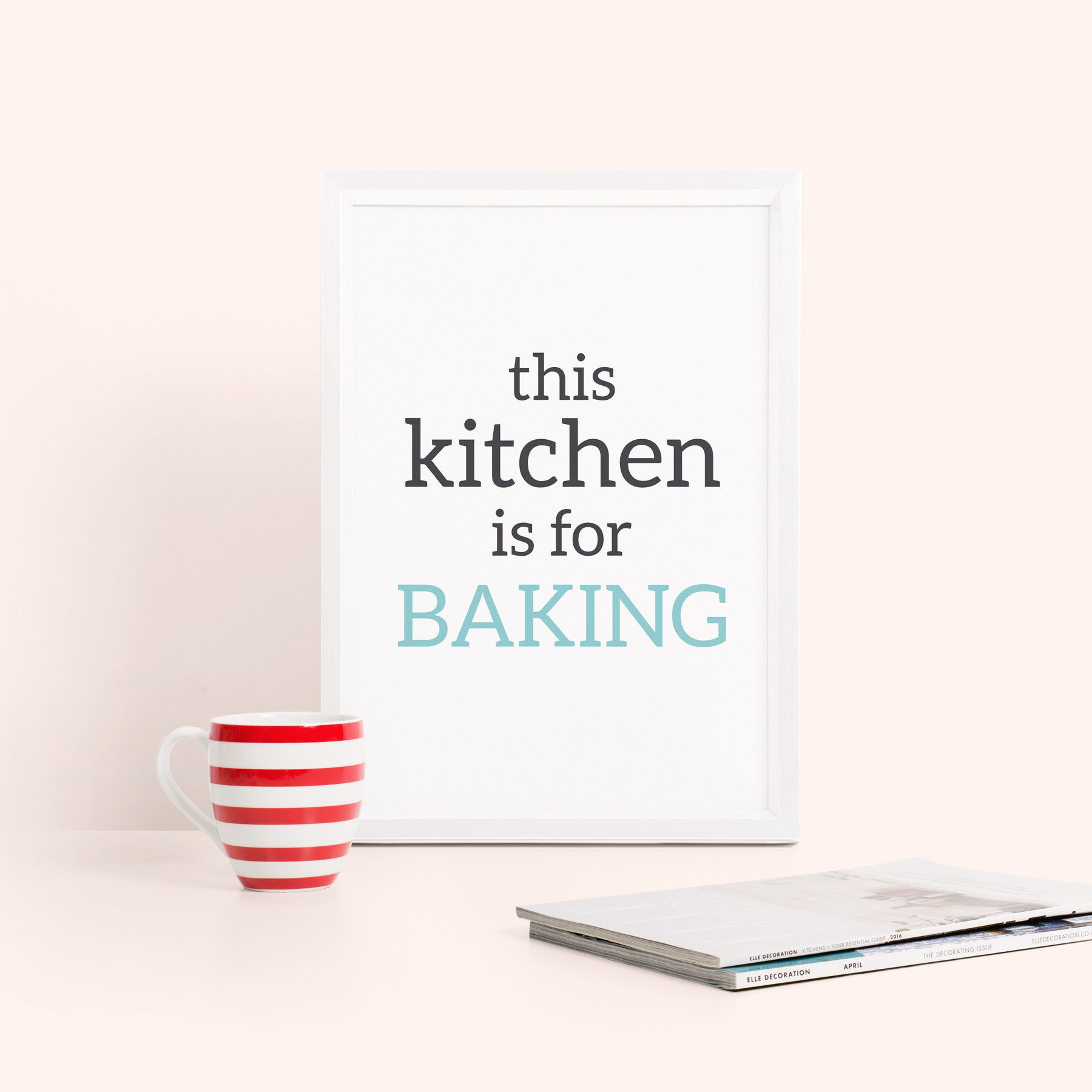 'this kitchen is for baking' Typography Print