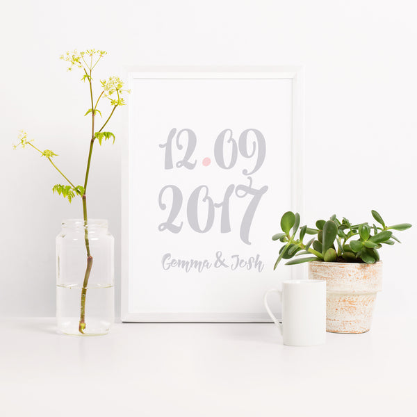 Special Date Typography Print