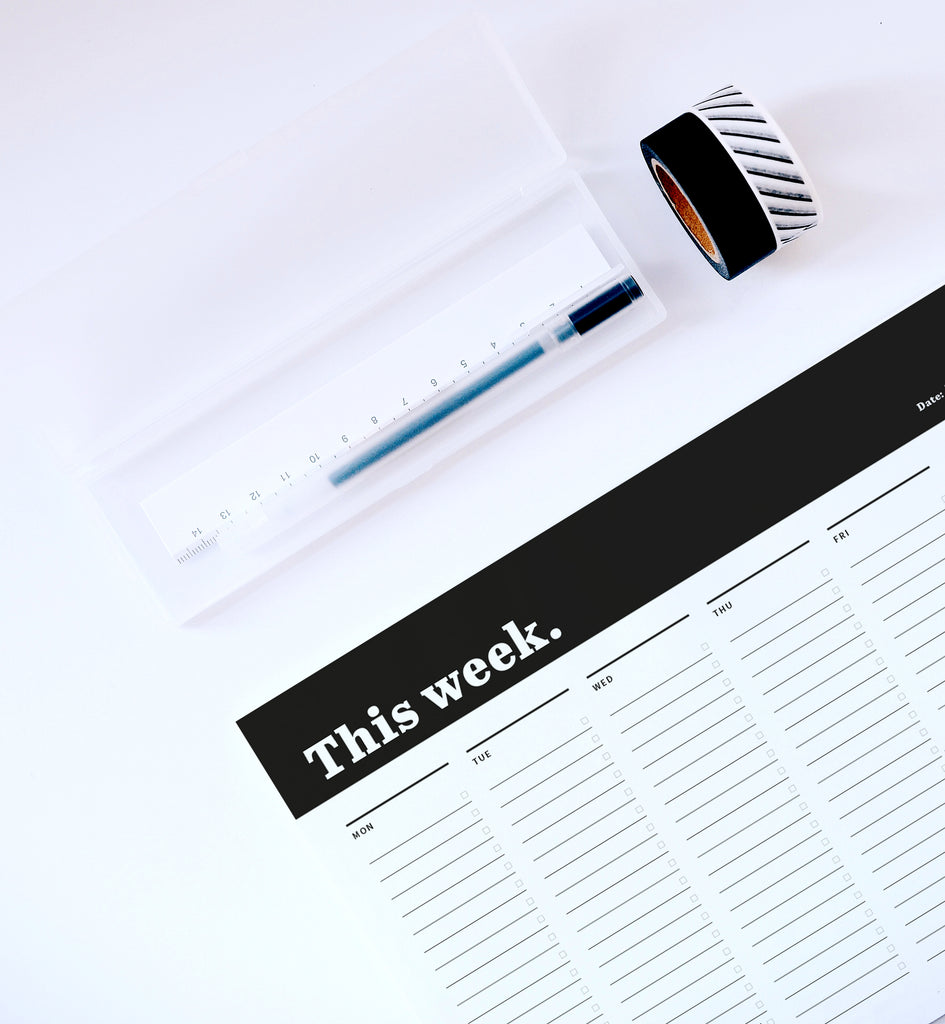 Weekly planner desk pad – A4