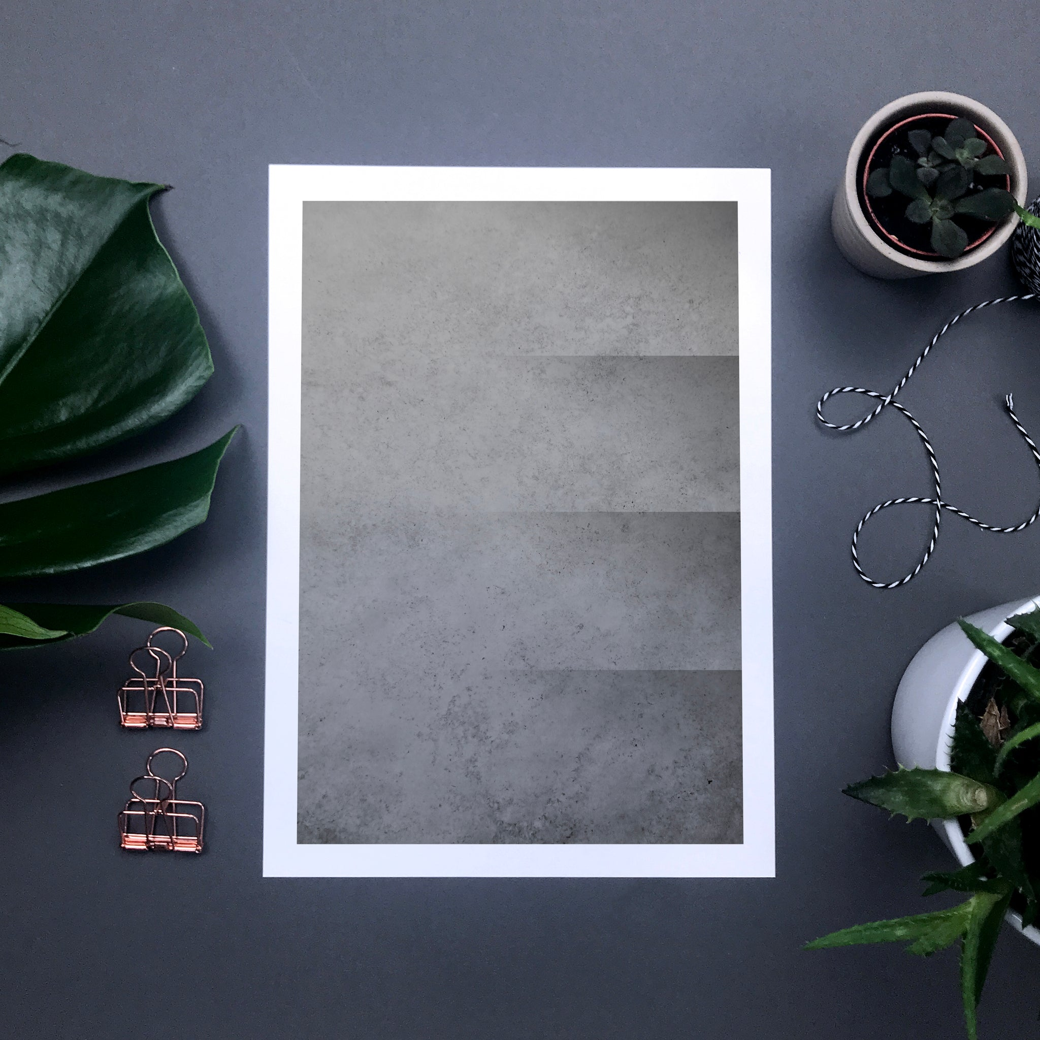 Abstract concrete print – monochrome industrial home decor style