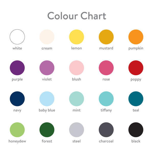 Made by Aiza Colour chart