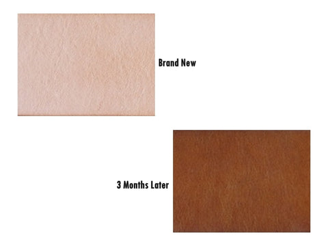LeatherStrata - Aging of natural leather