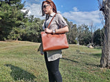 CORFU Tote - 4 Colors - LeatherStrata
