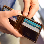 Single folding Horizontal Men's Wallet - Banknotes & Cards
