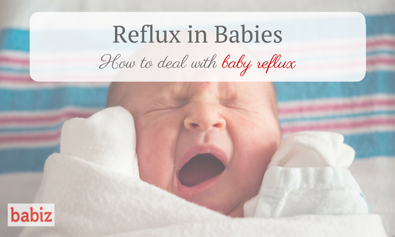 How to deal with reflux in babies