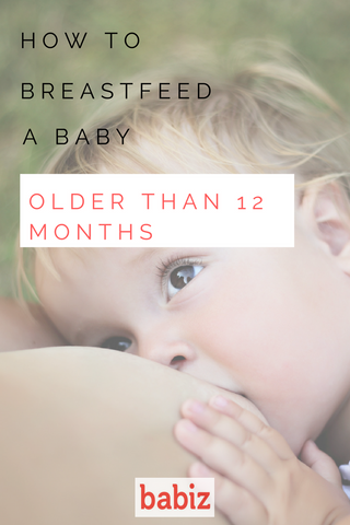 How to breastfeed an older baby