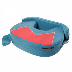 Steel Blue Nursing Pillow with Adjustable Back Support