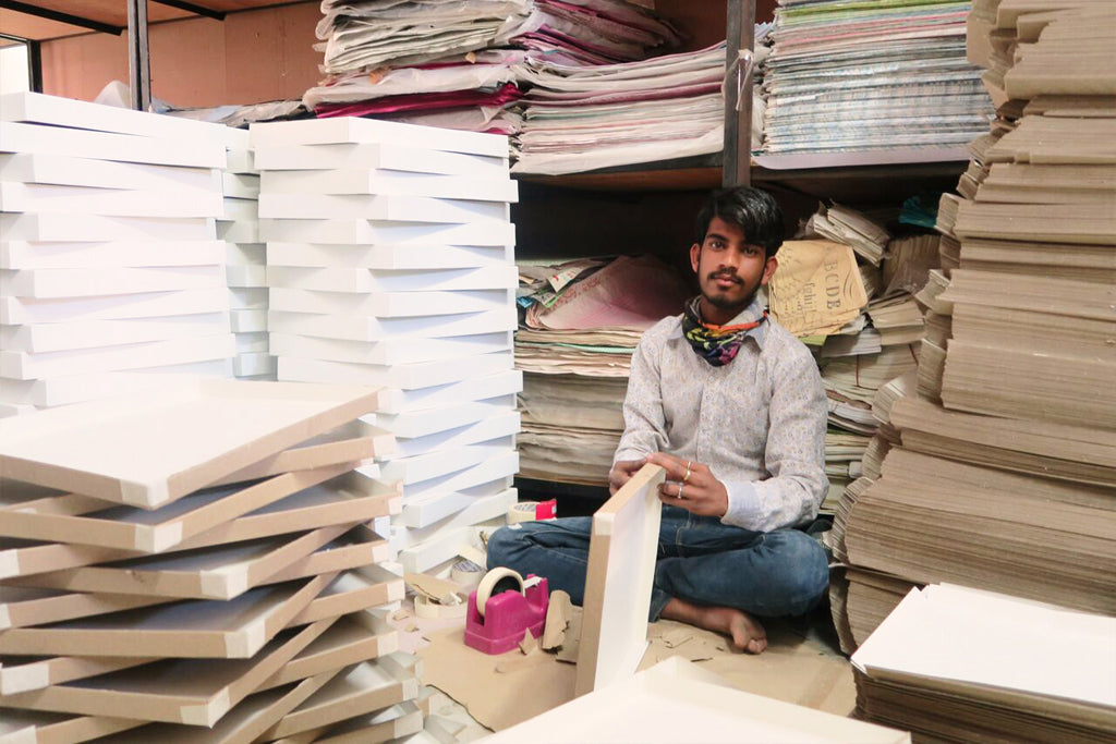 MEET & GREET | The artisans behind our recycled paper shades