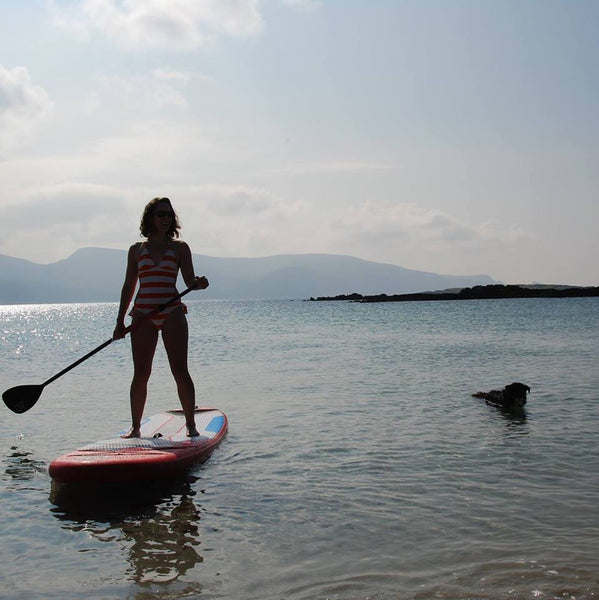 gemma wright on a paddle board in ireland
