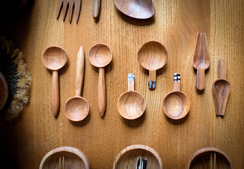 small handmade wooden spoon
