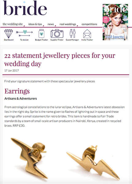 bride magazine statement wedding jewellery artisans and adventurers