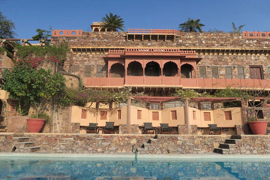 neemrana fort-palace hotel swimming pool view