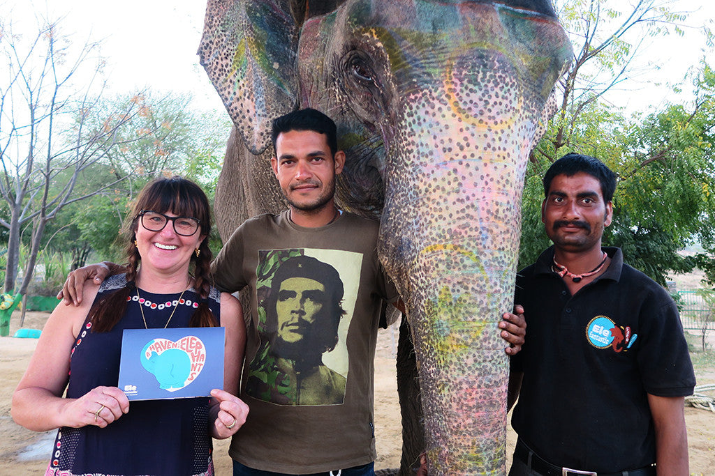 bee friedmann from artisans and adventurers with the elefantastic team in jaipur