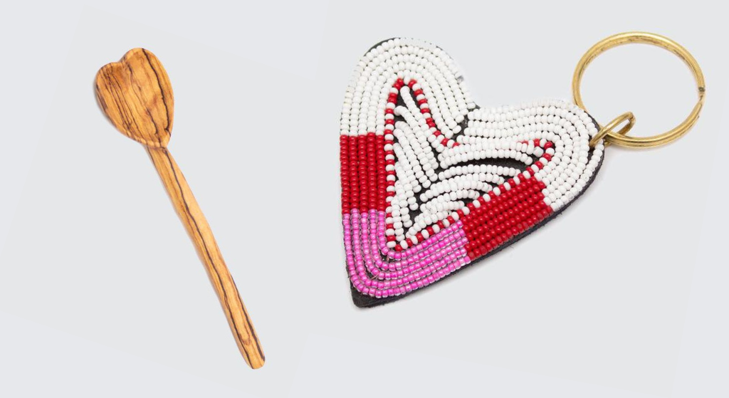 Heart keyring and heart spoon