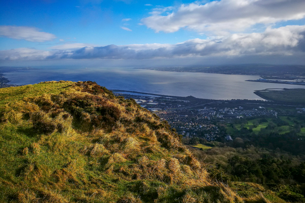 The view from Cave Hill in Belfast