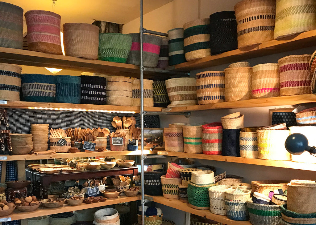 handwoven baskets in artisans and adventurers
