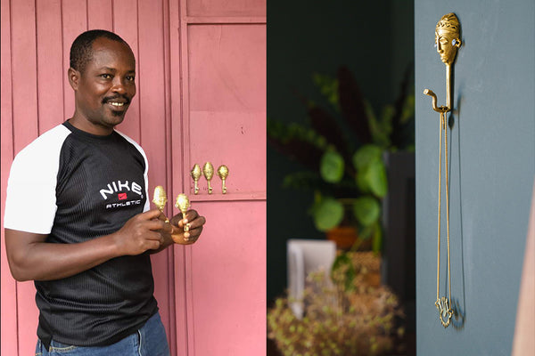 ghanain brass hooks at artisans and adventurers