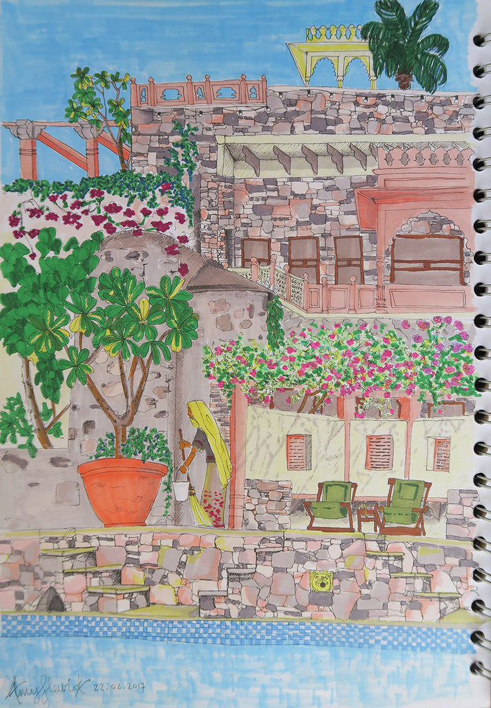 neemrana illustration by amy fleuriot for artisans and adventurers
