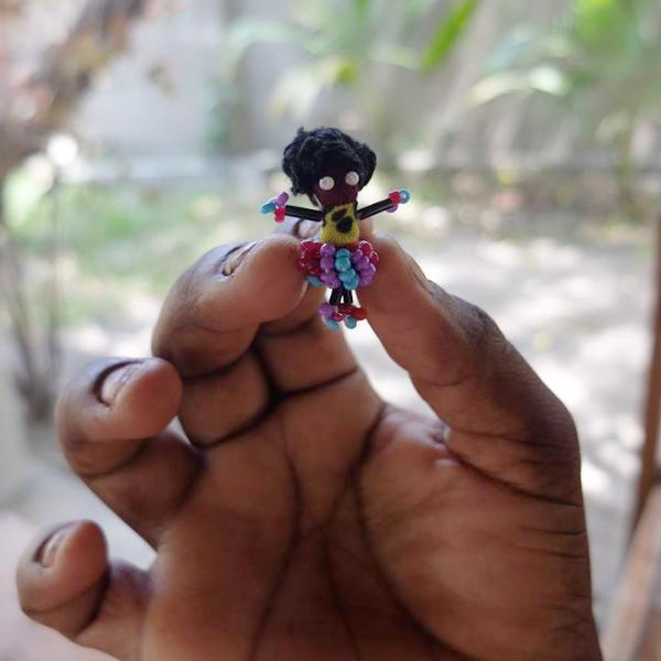 binti doll pin brooches hand made in tanzania