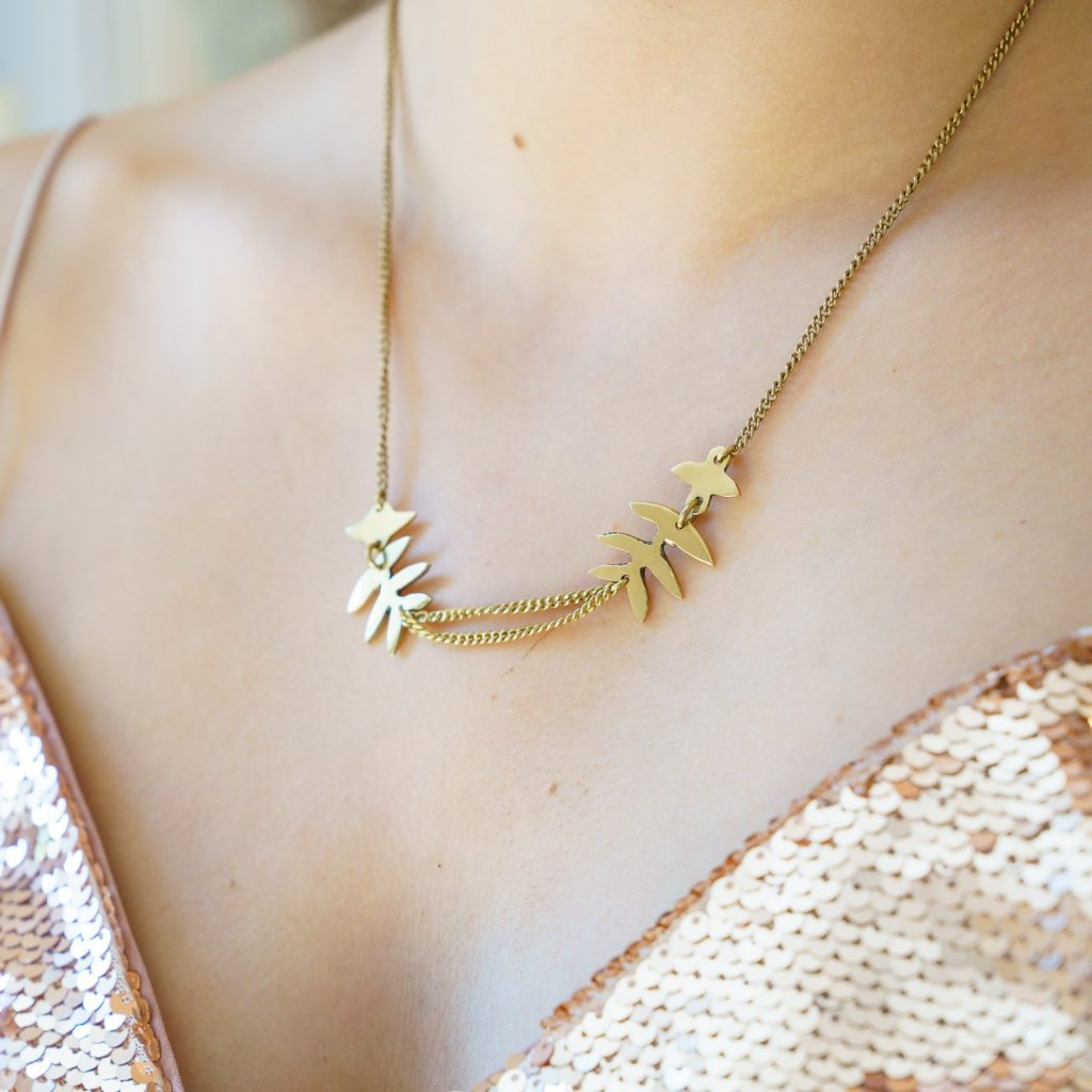 Artisans & Adventurers gold-toned recycled brass jewellery - handmade using sustainable materials in Kenya