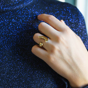 Crescent Open Brass Ring