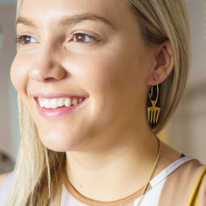 Artisans & Adventurers recycled brass, fair-trade hoop earrings