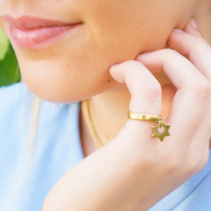 Shooting Star Charm Ring