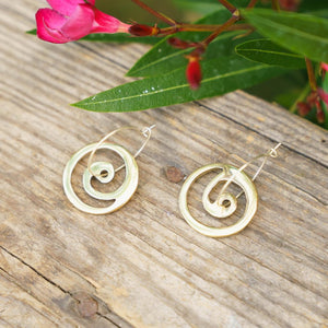 Swirl Small Charm Hoop Earrings