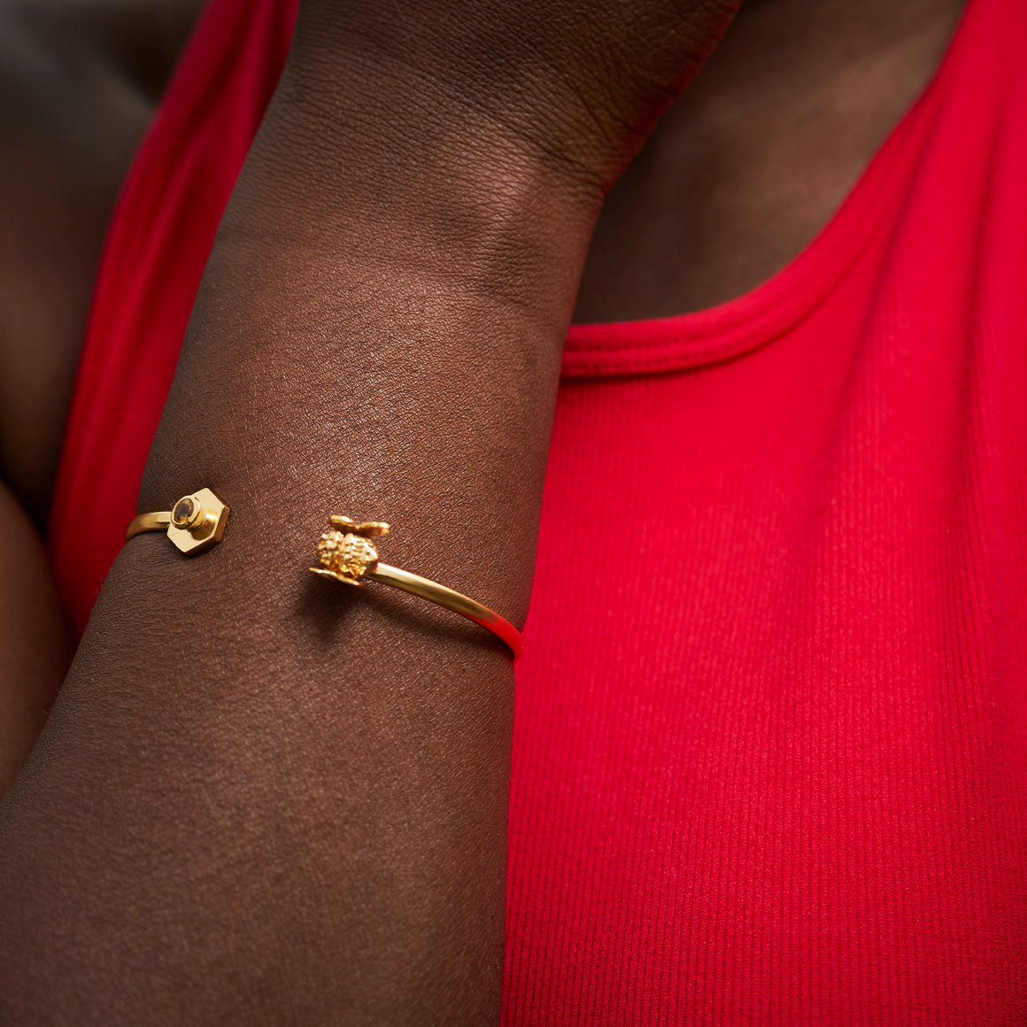 Honey Bee Brass Bangle