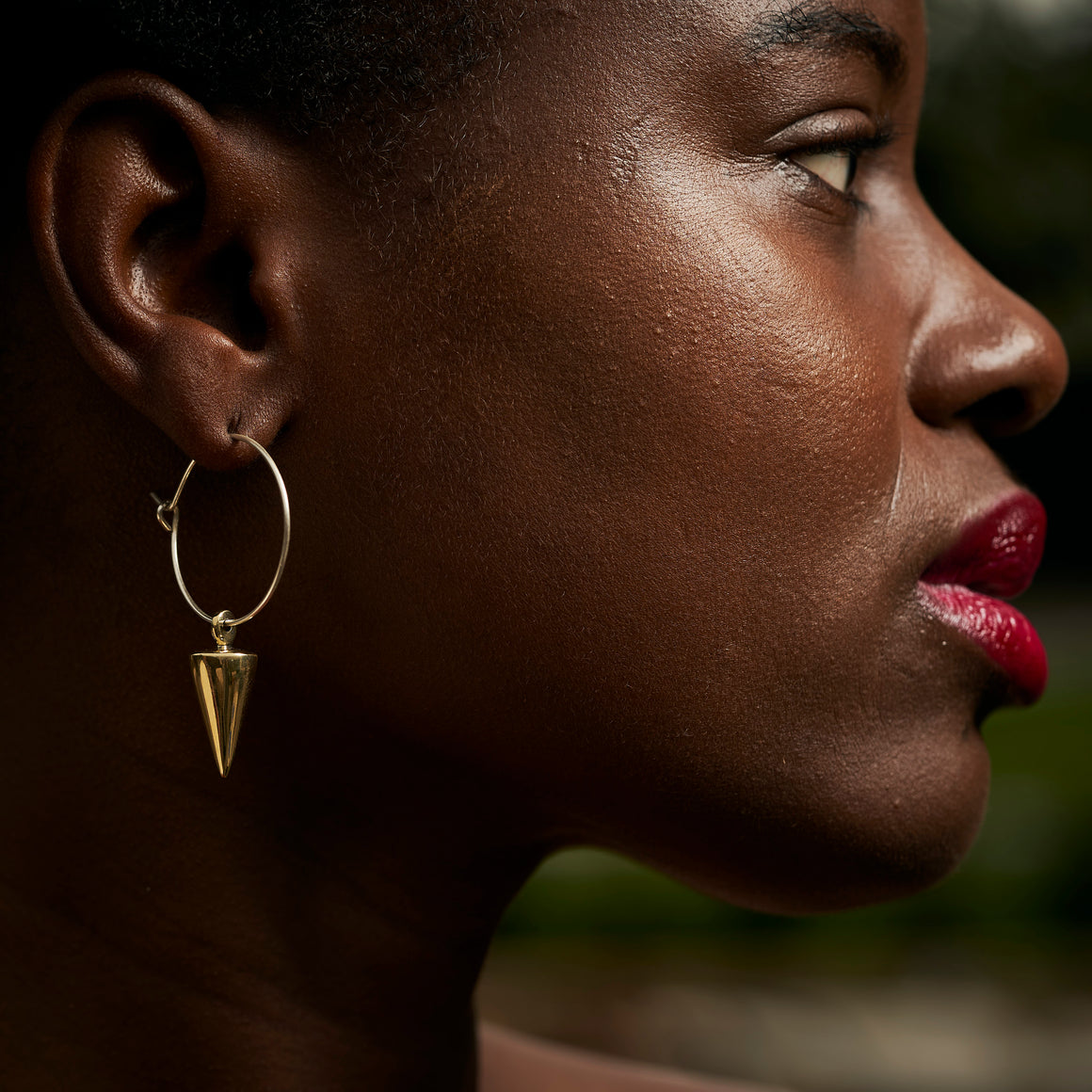 Signature Spike Small Charm Hoop Earrings