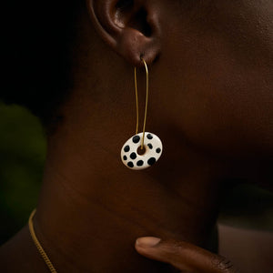 Zawadi Ceramic Earrings 'Polka Dots and Stripes'