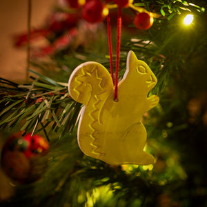 Kenyan Soapstone Christmas Tree Decoration 'Squirrel'