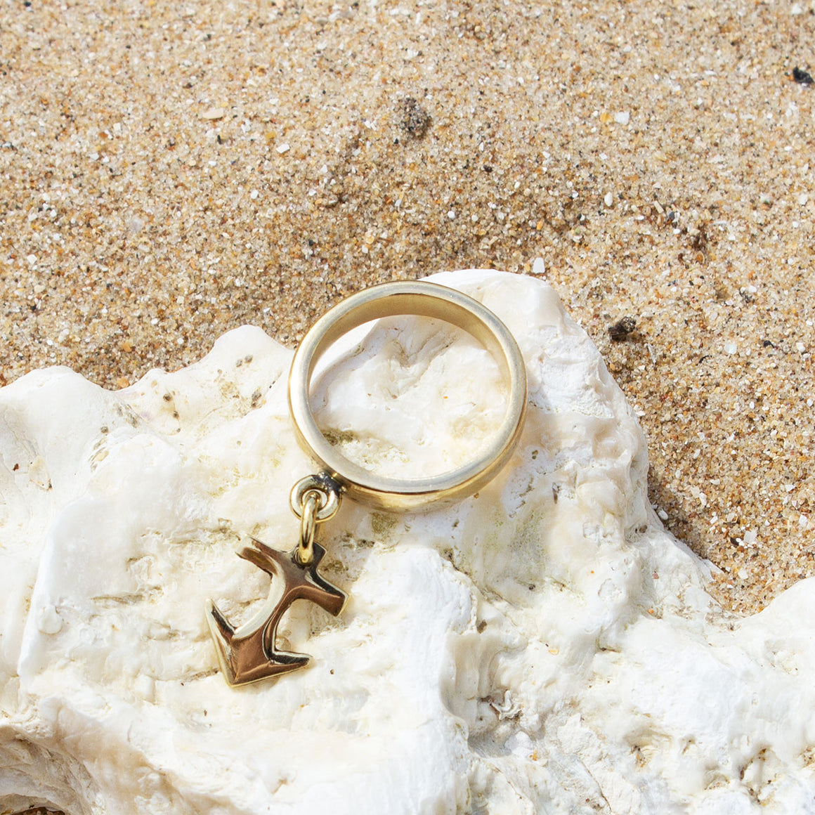 Anchor Charm Ring