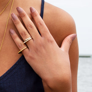 Signature Arrow Polished Brass Ring