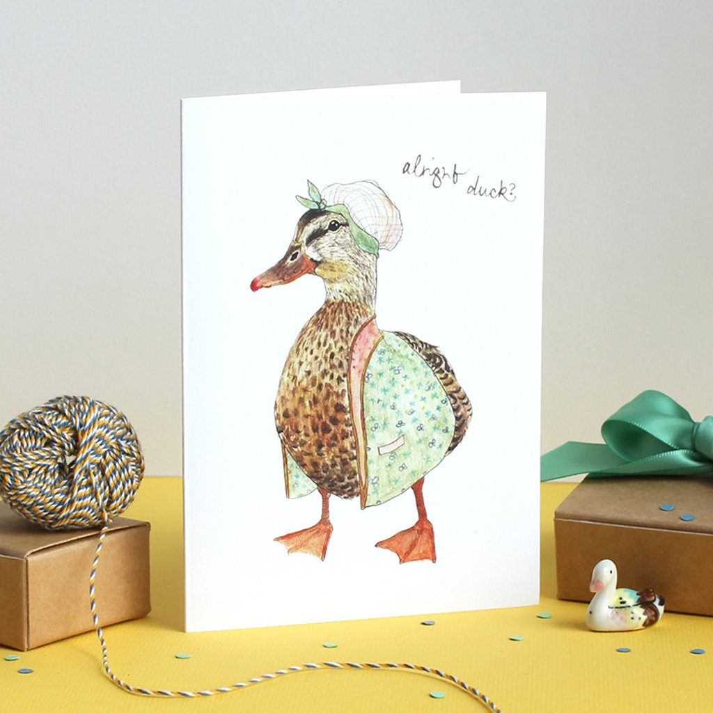 Mister Peebles Greeting Card 'Alright Duck'
