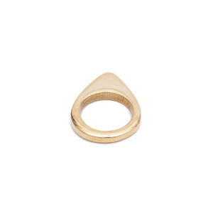 Artisans & Adventurers Signature Arrow Ring in recycled, polished brass