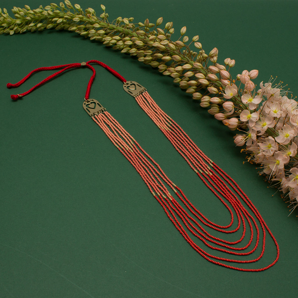 Ocean Collection Coral Beaded Necklace